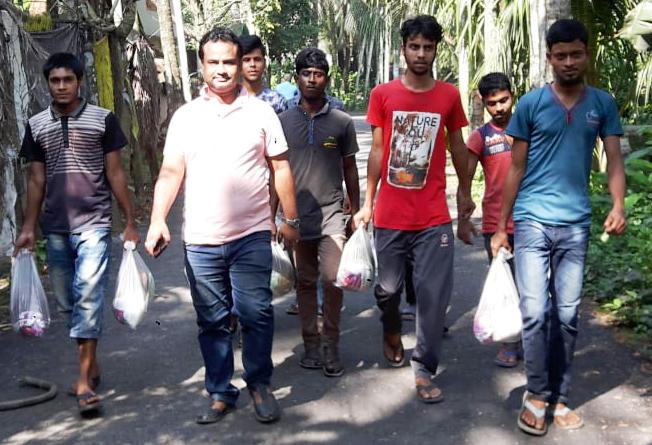 বানারীপাড়া পৌরসভার ২নং ওয়ার্ডে দূর্বার দূরন্ত গতিতে ছুটে চলছেন রাহাদ সুমন