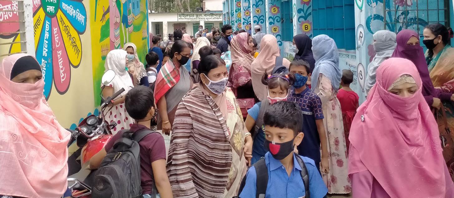 &বানারীপাড়ায় শিক্ষার্থীদের পদচারণায় মুখরিত হয়ে উঠল বিদ্যাপীঠ